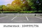 empty parking lot outdoor in...   Shutterstock . vector #1049591756