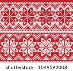 winter sweater design. fairisle ... | Shutterstock .eps vector #1049592008