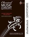 monochrome classical concert...   Shutterstock .eps vector #1049595890