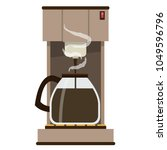 coffee maker vector. free space ... | Shutterstock .eps vector #1049596796