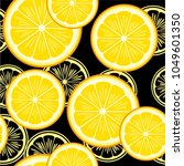 seamless pattern with lemons on ... | Shutterstock .eps vector #1049601350