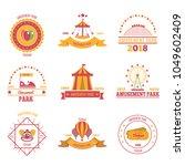 amusement park colourful...   Shutterstock .eps vector #1049602409