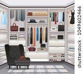 storage room wardrobe cloakroom ... | Shutterstock .eps vector #1049602466
