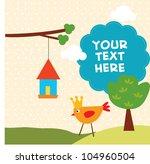 bird with text