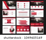 bundle presentation template... | Shutterstock .eps vector #1049605169
