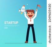 startup business  flat design ... | Shutterstock .eps vector #1049605430