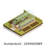 tunnel shaped plastic... | Shutterstock .eps vector #1049605889