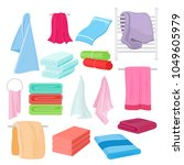 vector flat illustration set of ... | Shutterstock .eps vector #1049605979