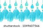 vector seamless border pattern. ... | Shutterstock .eps vector #1049607566