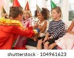 Clown Entertaining Children At...