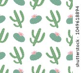 green plants cactus peyote... | Shutterstock .eps vector #1049618894