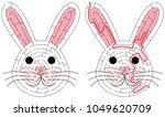 easy bunny maze for younger... | Shutterstock .eps vector #1049620709