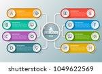 vector abstract 3d paper... | Shutterstock .eps vector #1049622569