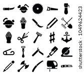 sharp icons. set of 25 editable ... | Shutterstock .eps vector #1049624423