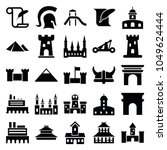 history icons. set of 25...   Shutterstock .eps vector #1049624444
