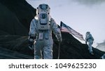 shot of the two astronauts...   Shutterstock . vector #1049625230