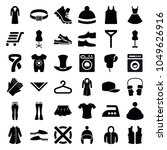clothing icons. set of 36... | Shutterstock .eps vector #1049626916