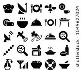 Dish Icons. Set Of 25 Editable...