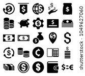 dollar icons. set of 25...   Shutterstock .eps vector #1049627060