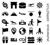 travel icons. set of 25... | Shutterstock .eps vector #1049627114
