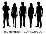 set of  vector silhouettes  men ... | Shutterstock .eps vector #1049629100