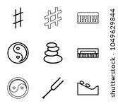 harmony icons. set of 9...   Shutterstock .eps vector #1049629844