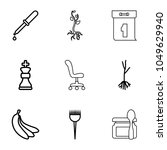 nobody icons. set of 9 editable ... | Shutterstock .eps vector #1049629940