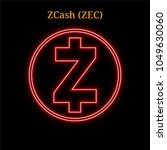 red neon zcash  zec ...
