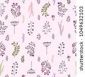 vector vintage seamless floral...   Shutterstock .eps vector #1049632103