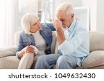 keep calm. caring elderly woman ... | Shutterstock . vector #1049632430