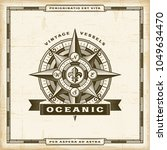 vintage oceanic label. editable ... | Shutterstock .eps vector #1049634470