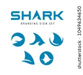 shark branding signs set. fish... | Shutterstock .eps vector #1049634650