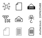 notice icons. set of 9 editable ...   Shutterstock .eps vector #1049635688