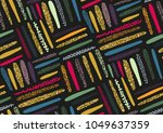 vector seamless pattern with... | Shutterstock .eps vector #1049637359