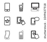 touchscreen icons. set of 9... | Shutterstock .eps vector #1049637518