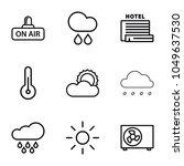 climate icons. set of 9... | Shutterstock .eps vector #1049637530