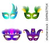 carnival mask venetian mockup...   Shutterstock .eps vector #1049637914
