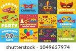 carnival mask venetian banner...   Shutterstock .eps vector #1049637974