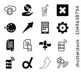 application icons. set of 16... | Shutterstock .eps vector #1049638754