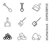 dirt icons. set of 9 editable... | Shutterstock .eps vector #1049638910