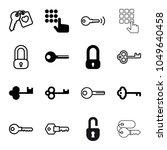 unlock icons. set of 16...   Shutterstock .eps vector #1049640458