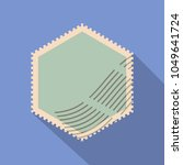formed postage stamp icon. flat ... | Shutterstock .eps vector #1049641724
