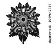 natural sunflower icon. simple... | Shutterstock .eps vector #1049641754