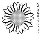 nice sunflower icon. simple... | Shutterstock .eps vector #1049641760