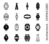 strap icons. set of 16 editable ... | Shutterstock .eps vector #1049641880