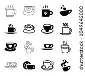 cappuccino icons. set of 16... | Shutterstock .eps vector #1049642000