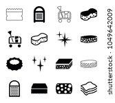 sponge icons. set of 16... | Shutterstock .eps vector #1049642009