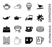 hot icons. set of 16 editable... | Shutterstock .eps vector #1049642054