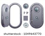 the door and window of the ship ... | Shutterstock .eps vector #1049643770