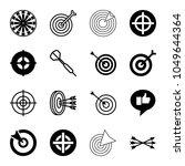 dart icons. set of 16 editable... | Shutterstock .eps vector #1049644364